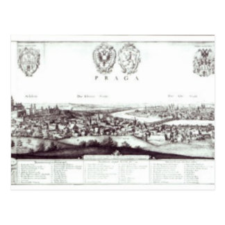 View of Prague, 1649 Postcard