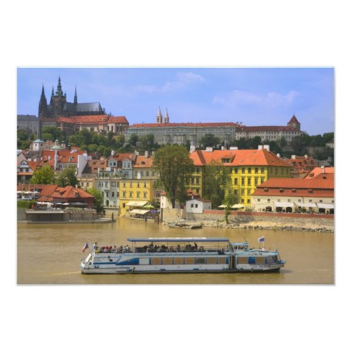 View of Prague Castle and town by Vltava Photo Art