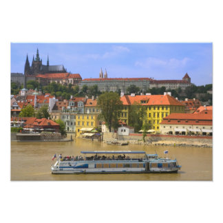 View of Prague Castle and town by Vltava Photographic Print