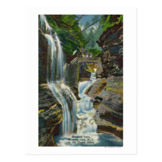 View of Rainbow Falls and Bridge Postcard