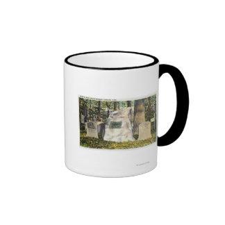 View of Ralph Waldo Emerson Gravestone Coffee Mugs