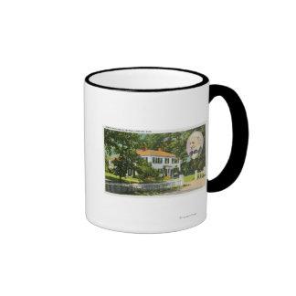 View of Ralph Waldo Emerson House Coffee Mugs