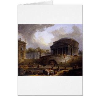 View of Ripetta by Hubert Robert Greeting Card