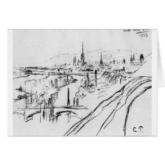 View of Rouen by Camille Pissarro Greeting Card