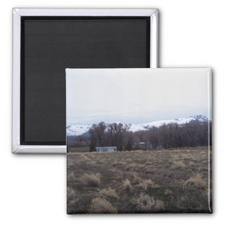 View Of Ruby Mountains Square Magnet