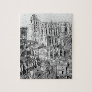 View of ruins in front of the Cathedral_War Image Puzzle