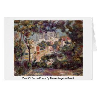 View Of Sacre-Coeur By Pierre-Auguste Renoir Greeting Cards