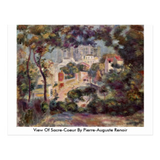 View Of Sacre-Coeur By Pierre-Auguste Renoir Postcard