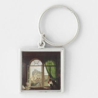 View of Saint-Eustache Church Key Chain