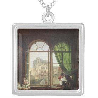 View of Saint-Eustache Church Personalized Necklace