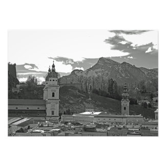 View of Salzburg amid the mountains Photo Print