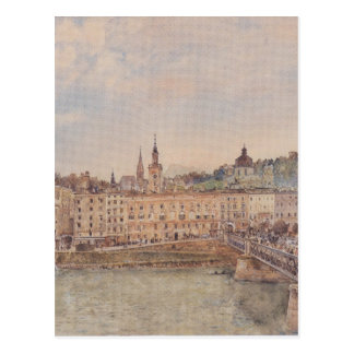 View of Salzburg by Rudolf von Alt Postcard