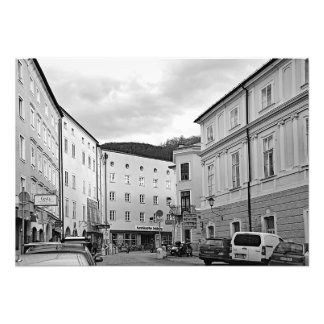 View of Salzburg in the morning after Christmas Photo Print