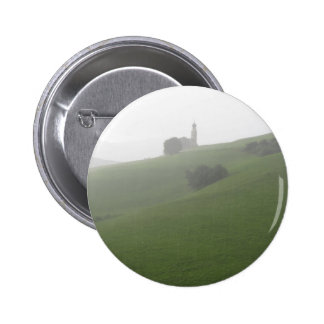 View of San Valentino church in a rainy day 6 Cm Round Badge