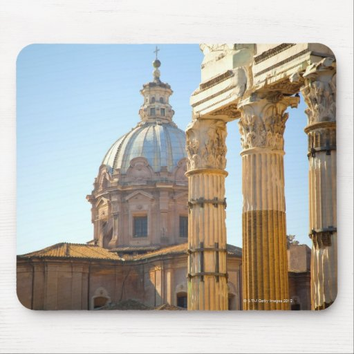 View of Santi Luca e Martina in the Roman Forum Mousepads