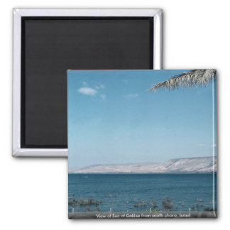 View of Sea of Galilee from south shore, Israel Square Magnet
