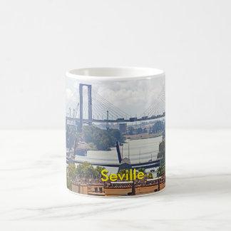 View of Seville and V Centenario Bridge Coffee Mug