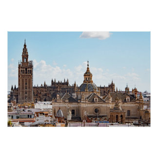 View of Seville Cathedral Poster