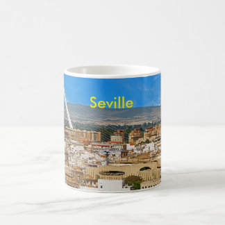 View of Seville with the bridge of Alamillo Coffee Mug