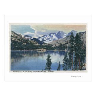 View of Shadow Lake, Sierra Nevada Mountains Postcard