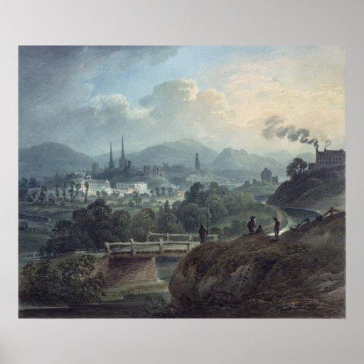 View of Shrewsbury across the Severn Print