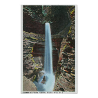 View of Spectacular Cavern Cascade Poster