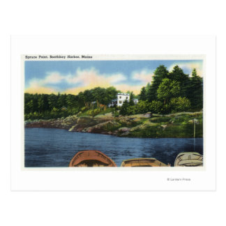 View of Spruce Point Postcard