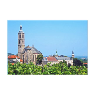 View of St. James in Kutna Hora. Canvas Print