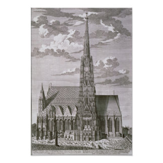 View of St. Stephan's Cathedral Poster