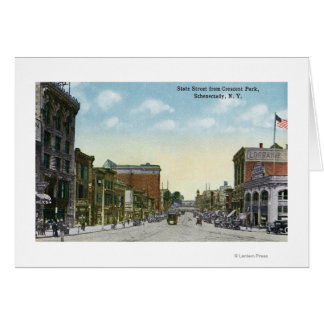 View of State Street from Crescent Park Card