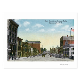 View of State Street from Crescent Park Postcard