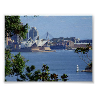 View of Sydney Harbour Poster