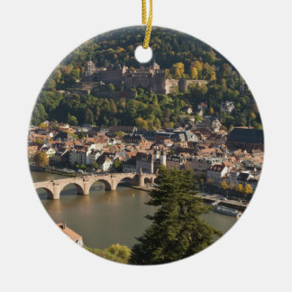 View of the Alte Brucke or Old Bridge Round Ceramic Decoration