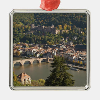 View of the Alte Brucke or Old Bridge Silver-Colored Square Decoration