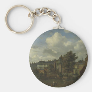 View of the ancient castle of the Dukes Basic Round Button Key Ring