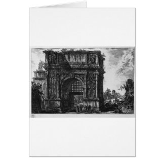 View of the Arch of Benevento in the Kingdom... Greeting Card