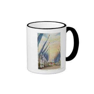 View of the Avenue of Flags, 1934 World's Fair Coffee Mug