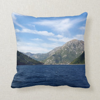View of the Boka Kotorska bay, Montenegro Cushion