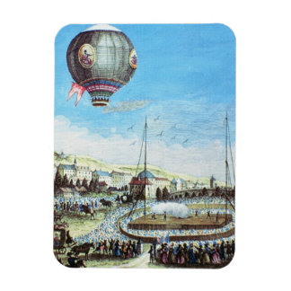 View of the Brolteaux in Lyon and the third flight Rectangular Photo Magnet