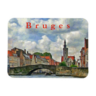 View of the Budevine Canal in Bruges. Magnet