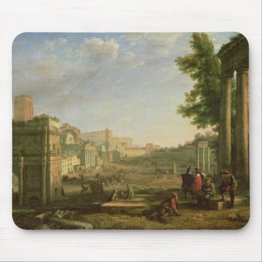 View of the Campo Vaccino, Rome, 1636 Mouse Pad