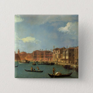 View of the Canal of Santa Chiara, Venice 15 Cm Square Badge
