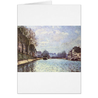 View of the Canal Saint Martin by Alfred Sisley Greeting Card
