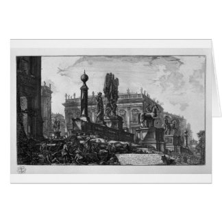 View of the Capitol by Giovanni Battista Piranesi Card