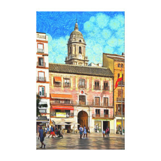 View of the Cathedral from the Constitution Square Canvas Print