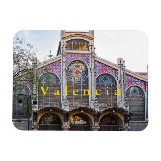 View of the Central Market of Valencia. Magnet