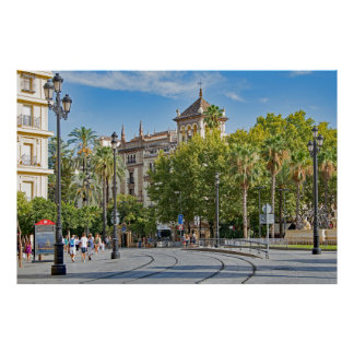 View of the central part of Seville Poster