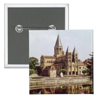 View of the Church of Notre-Dame 15 Cm Square Badge