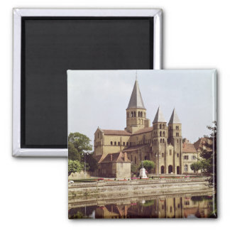 View of the Church of Notre-Dame Square Magnet