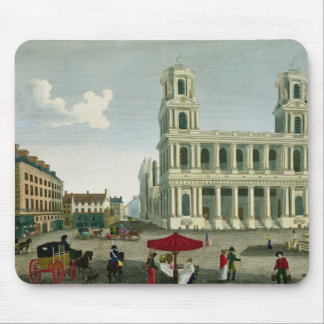 View of the Church of Saint-Sulpice Mouse Pads